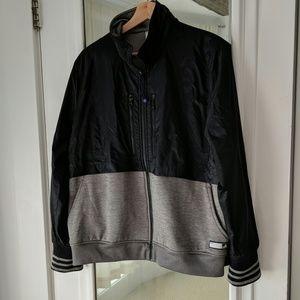 Adidas Varsity Half Nylon Zip Up Jacket